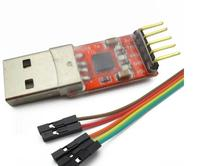 5pcs  CP2102 module USB to TTL serial UART STC download cable PL2303 Super Brush line upgrade(RED)