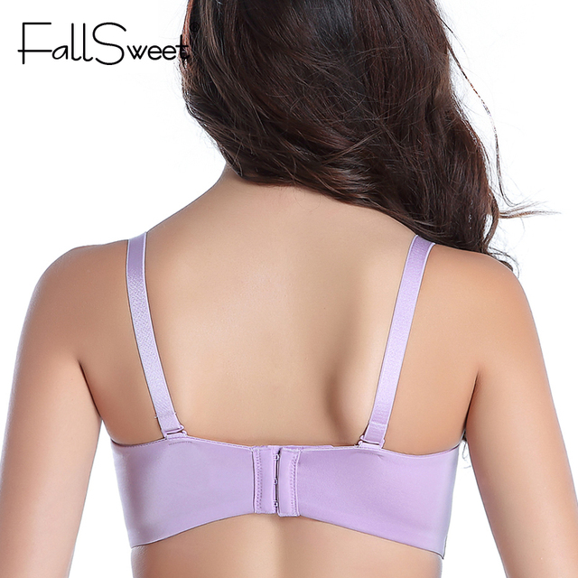 FallSweet Padded Push Up Bras Add Two Cups Brassiere Unlined Seamless Bra for Women A B cups