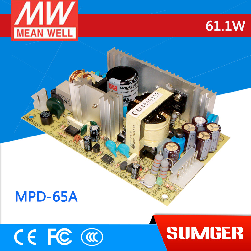 все цены на 1MEAN WELL original MPD-65A meanwell MPD-65 61.1W Dual Output Medical Type Switching Power Supply онлайн