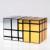 CubeTwist Siameses Siameses Doble 3X3X5 Mirror Bump Cubo Cubo Cubo Mágico-Negro Cuerpo/de Oro Etiqueta de plata