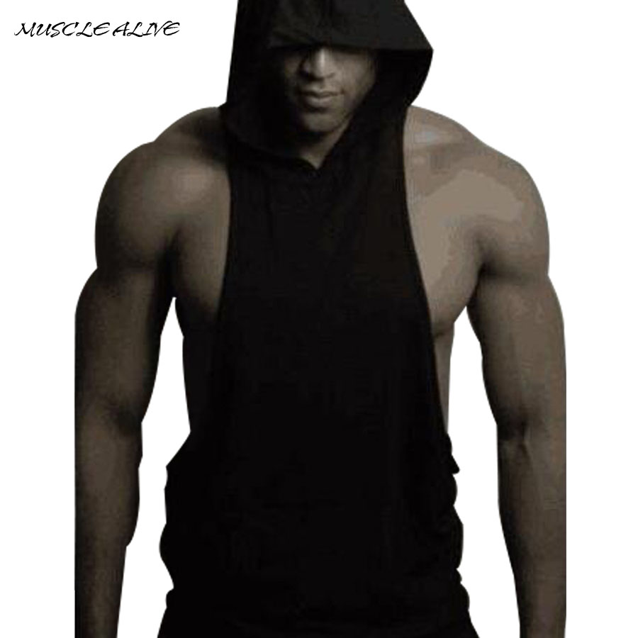 Muscle alive tank top men bodybuilding clothing muscle for Best men dress shirt