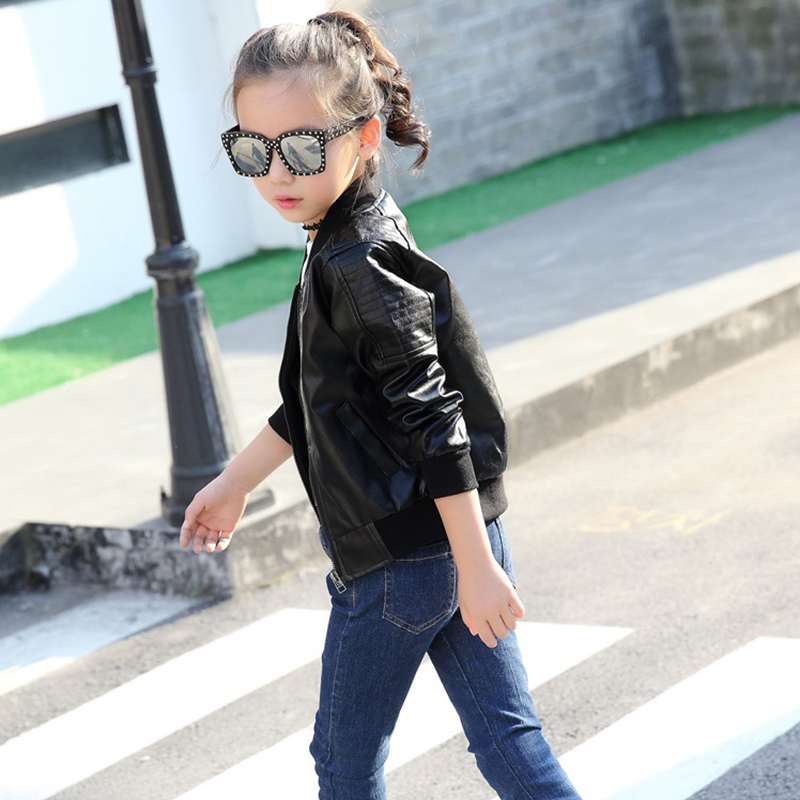 Image 3 - Teens Boys Girls JacketLeather Kids Jacket Bomber Children Pu Outwear Autumn Winter 2019 Black Wind Coat 4 5 6 8 10 12 YearsJackets & Coats   -