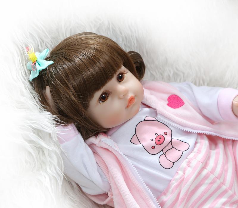 48 cm réaliste Reborn bébés doux Silicone bébé poupées lol reborn bambin réaliste nouveau-né bébé poupée pour enfant cadeau de noël - 4