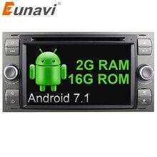 "Eunavi 7 ""in dash 2 din Android 7.1 Auto DVD-Player Auto GPS stereo OBD2 für Ford C-max Fiesta Fusion Kuga Mondeo Fokus mit radio"