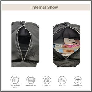 Image 4 - AVROs MODA Fashion Casual Backpack Women Shoulder Bags Ladies Genuine Leather Large Capacity Teenager School Travel Backpacks