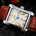 SEWOR Sport Men Leather Watch Clock Fashion Mechanical Automatic Wristwatch Men Famous Design Luxury Business Gold Watches