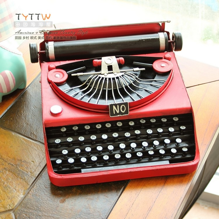 2015 NEW Genuine LARGE SIZE Red typewriter, Europe type restoring ancient ways do old iron home decoration furnishing articles