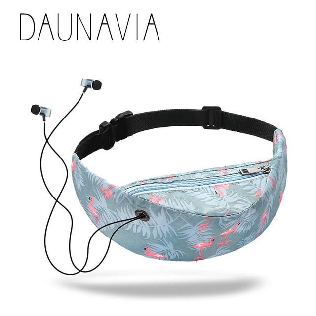 DAUNAVIA Brand 2019 new colorful waist bag waterproof Travelling Fanny Pack Mobile Phone Waist Pack for women designer Belt bag