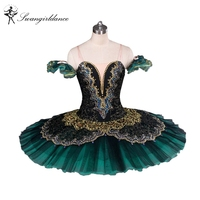 2014 New Arrival Adult Green Ballet Tutu For Performance Professional Classical Ballet Tutus Pancake Tutu Adult
