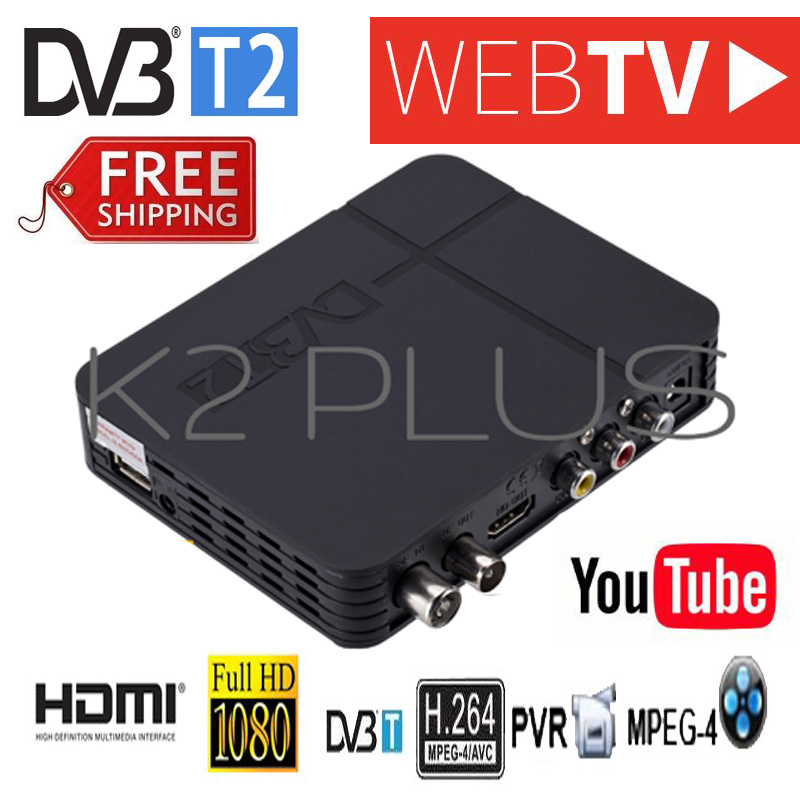2019 Newest K2 Plus DVB-T2 Terrestrial Digital TV Signal Receiver Compatible With DVB-T/H.264 Supports Dvb T2 H.264 Timer PVR