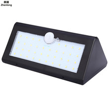 цена на IP65 Waterproof 38 LED Solar Light 2835 SMD White Solar Power Outdoor Garden Light PIR Motion Sensor Pathway Wall Lamp 3.7V Led