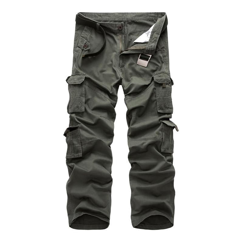 2017 Casual Große Tasche Cargohosen Männer Baumwolle Reißverschluss Männer Military Hosen Taktischen Hosen Männliche Große Größe 40 Hosen Für Männer