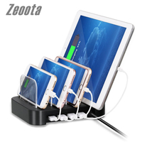 Zeoota 4 Ports USB Hub Universal Multi Device Charging Station Fast Charger Docking 24W For IPhone