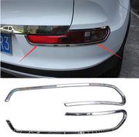 High Quality Rear Fog Light Lamp Cover Chrome Trim Trims 2pcs For Kia 2015 Sportage