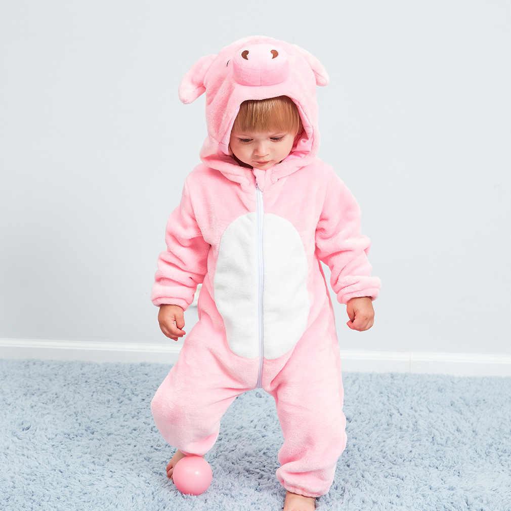 Комбинезон для новорожденного, пижамы для мальчиков и девочек, зимняя детская одежда, кигуруми, детские пижамы с животными, шовный комбинезон, ropa bebe, костюм