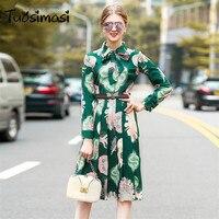 2018 Лето Весна Зеленый гладить пчела пояса рубашка с широкими рукавами хорошего качества платье (UL054)