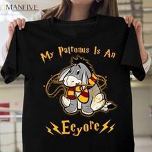 My Patronus Is An Eeyore T Shirt Black Cotton Men Cartoon Unisex New Fashion Tshirt Free Shipping Top Ajax