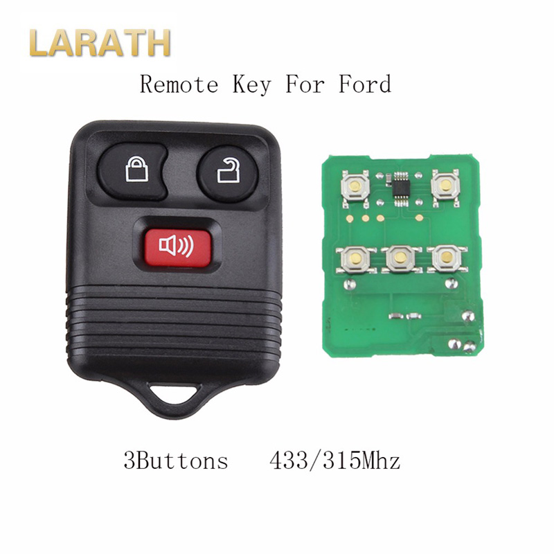 LARATH 3 Button 315/433 Mhz Car Key Remote Shell Case for Ford Escape F 150 Explorer Remote Key CWTWB1U345 with circuit board
