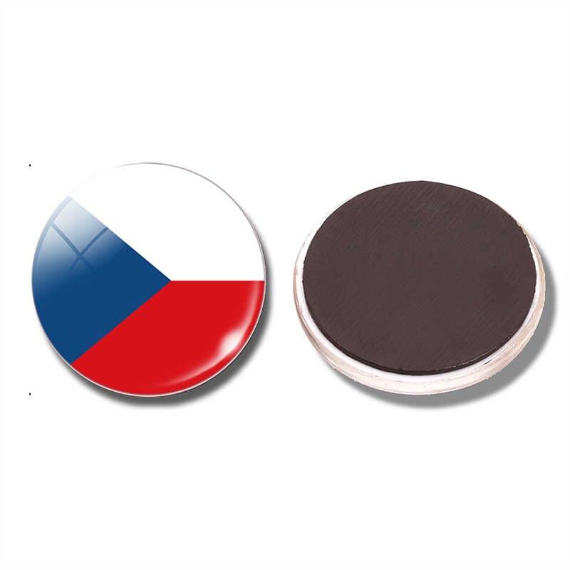 Europe centrale drapeau tchèque pologne république hongrie allemagne autriche suisse 30 MM aimant réfrigérateur magnétique autocollants réfrigérateur