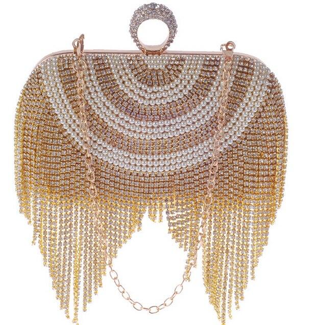Borla de diamantes de Imitación Mujeres Del Dedo Anillo de Diamantes Bolso de No
