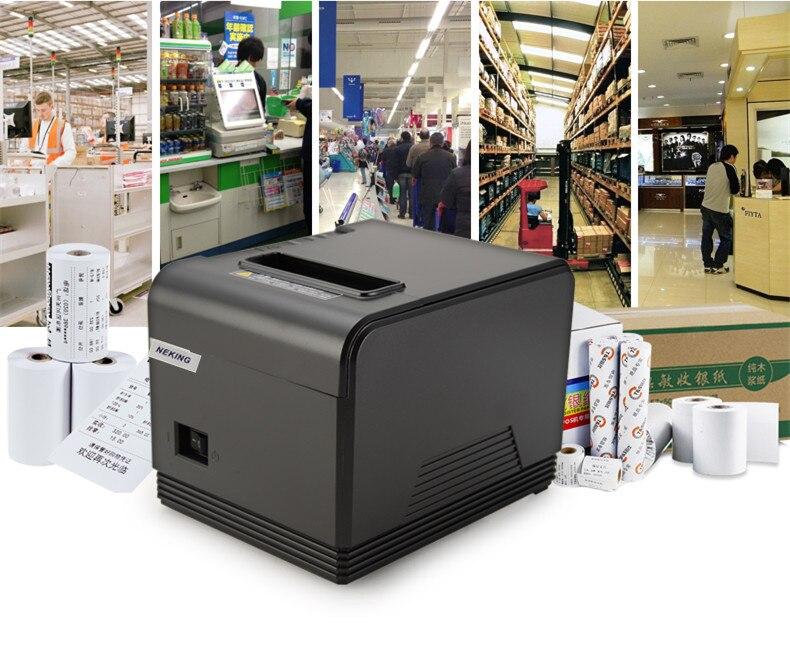 Новинка 2016 80 мм Тепловая чековый маленький Билет принтер штрих-кода автоматический резак поддержки системы Оконные рамы Linux