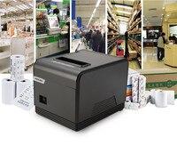 Printer High Quality 80mm Thermal Receipt Small Ticket Barcode Printer XPQ200 Automatic Cutting Printer Print Speed
