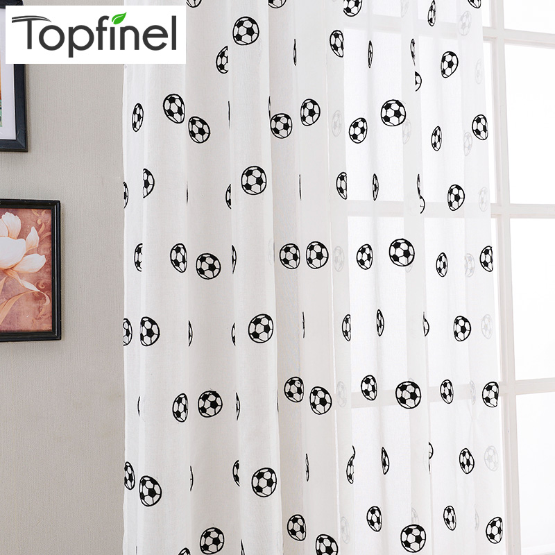 Brand new football pattern window tulle embroidered sheer for Window brands
