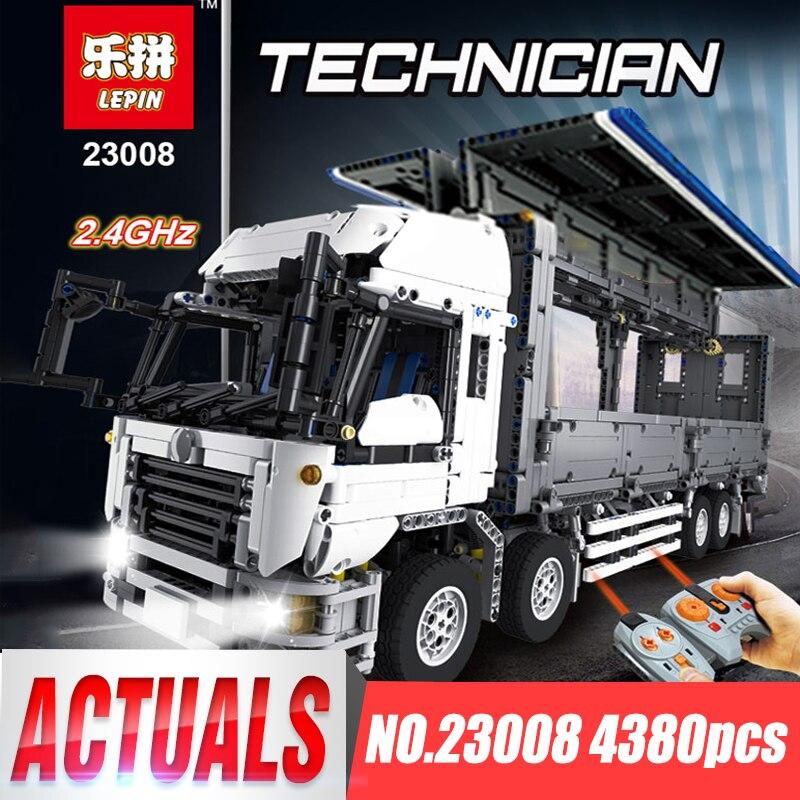 Lepin 23008 Serie Tecnico La MOC Ala Del Corpo Camion Set legoing 1389 Giocattoli Educativi Costruzione di Blocchi di Mattoni per i Bambini Regalo