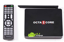 5pcs/lot new android 5.1 Smart TV Box CSA90 RK3368 Cortex-A53 Octa core CPU Bluetooth4.0 2GB/16GB 4kx2k android tv box DHL Free