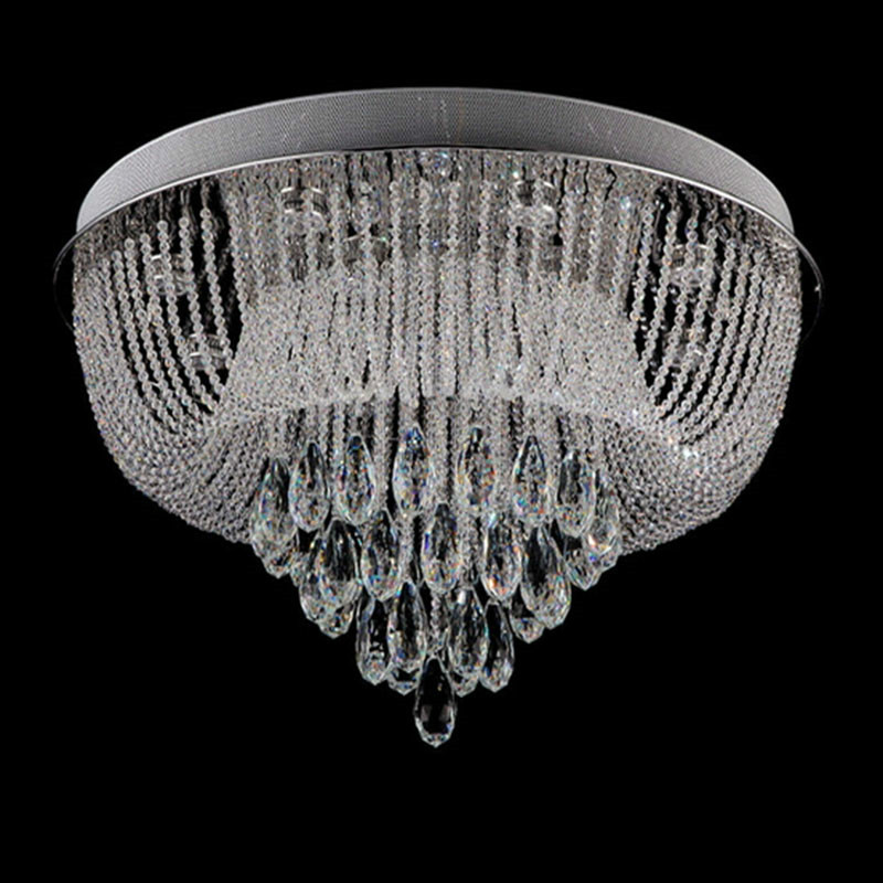 Ceiling Lights & Fans Circular Led Crystal Lamps And Lanterns Cornucopia Absorb Dome Light Of Contemporary Sitting Room Hotel Engineering Lobby Lamps Ceiling Lights