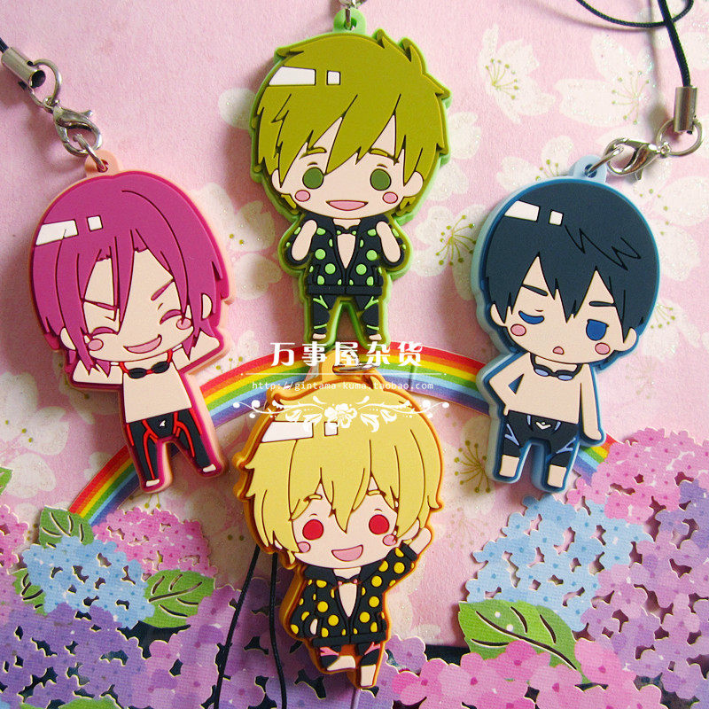 Free! Anime Pajamas Version 2 Nanase Haruka Ryugazaki Rei Taiga Kawaii Japanese Rubber Keychain original projector lamp bulb 5j 01201 001 with housing for benq mp510 projectors