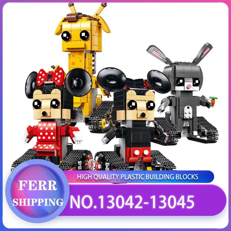 Figurines d'action sur chenilles Mickey Minnie Mouse Legoing film blocs de construction télécommandés Technic RC jouets enfants briques cadeaux