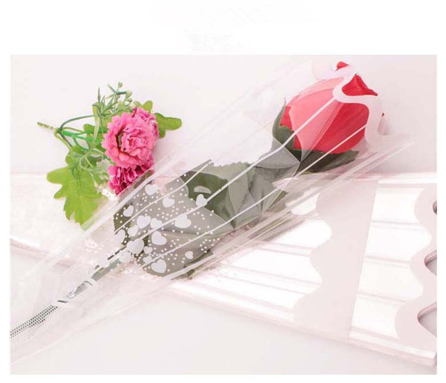 100pcs diy wedding rose single bag flowers bouquet wrapping craft 100pcs diy wedding rose single bag flowers bouquet wrapping craft paper flower plastic bags floral packaging mightylinksfo