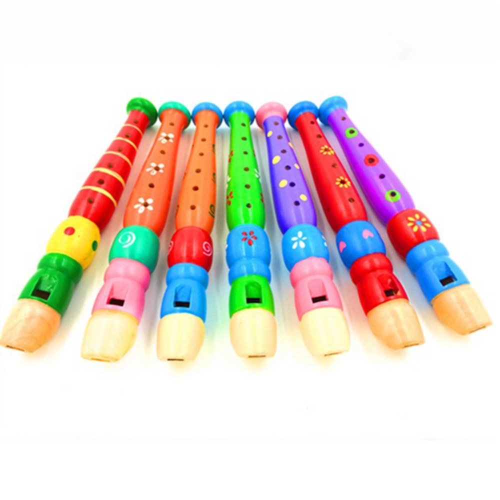 Baby Houten Speelgoed Kleurrijke Kinderen Leren Speelgoed Goed Designer Kids Dizi Muziek Instrument Hout Blok Vroege Onderwijs Speelgoed