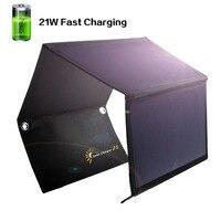 XINPUGUANG 5V 21W Solar Panel Solar Cells Dual USB Solar Charger Batteries Phone tablet MP3 /4 Charging Foldable Solar panels