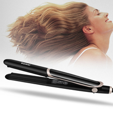 Professional Negative Ion Infrared Hair Straighting Curling Iron Led Display Curler Flat Styling Tools