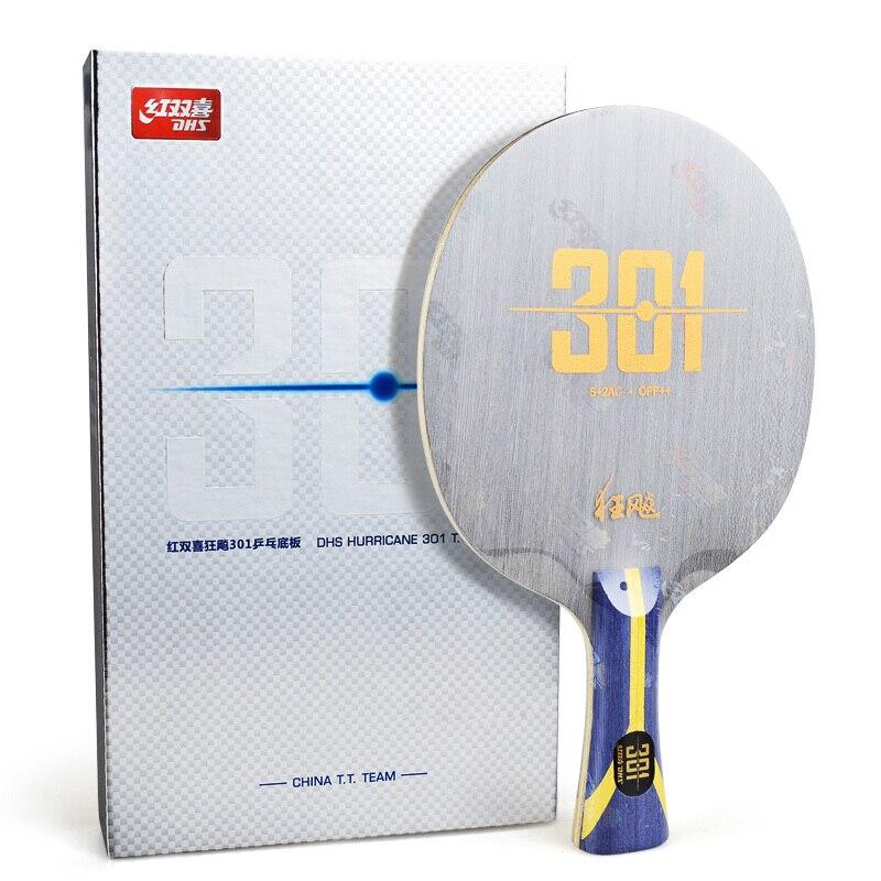 DHS tennis de table raquette ouragan h301 301 arylate carbone ALC Chine TT Équipe pour lame ping-pong bat paddle