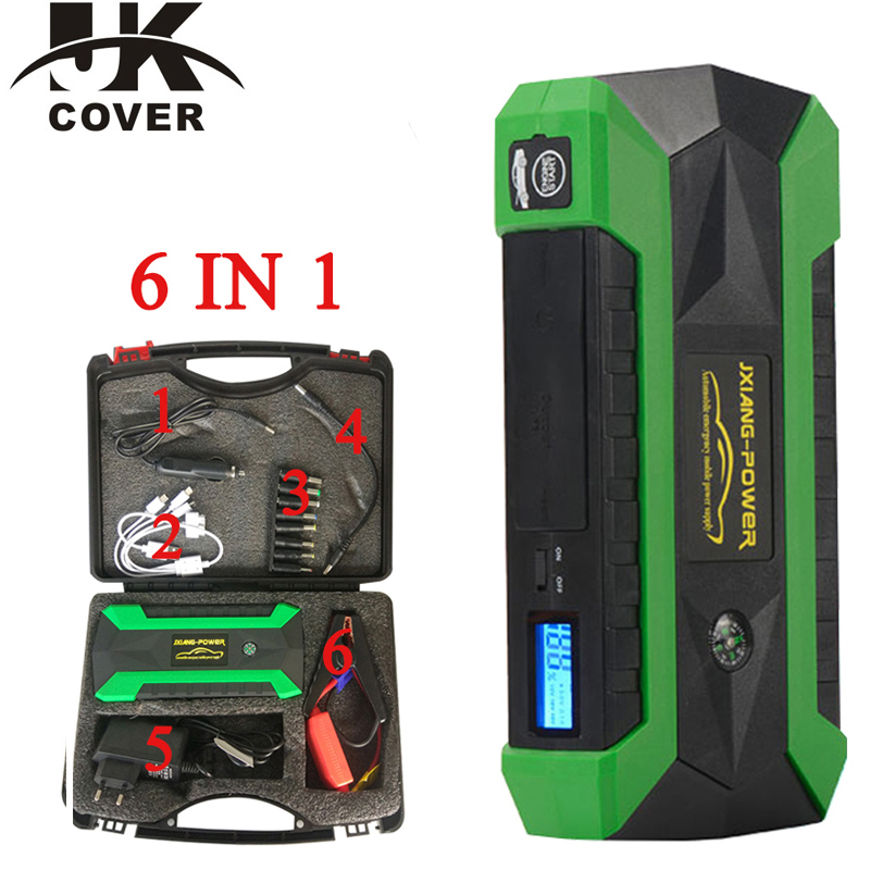 JKCOVER 68000 mWh Carregador de Bateria de Emergência Carro Saltar de Arranque para Carro A Gasolina 60C Descarga Auto Partida High Power Pack Banco