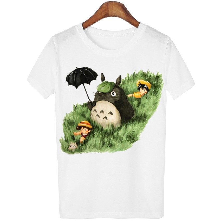 HTB1xgaxLXXXXXXHXFXXq6xXFXXX5 - New Cute Totoro T shirt Women Cartoon Casual Tops Tees
