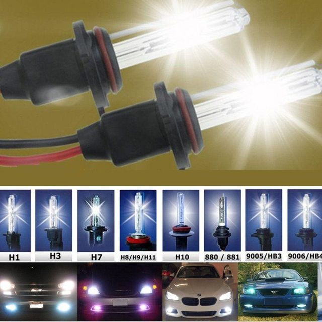 HID Xenon H7 Replacement bulb H1 H3 H11 9005 9006 880 35W 55W 12V Auto car headlight lamp 4300k 5000k 6000k 8000k 10000k 12000k