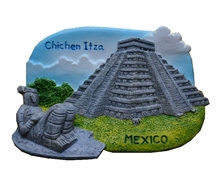 Mexican Mayan Pyramids Hand-Painted Aromatherapy 3D Fridge Magnets World Travel Souvenirs Refrigerator Magnetic Sticker