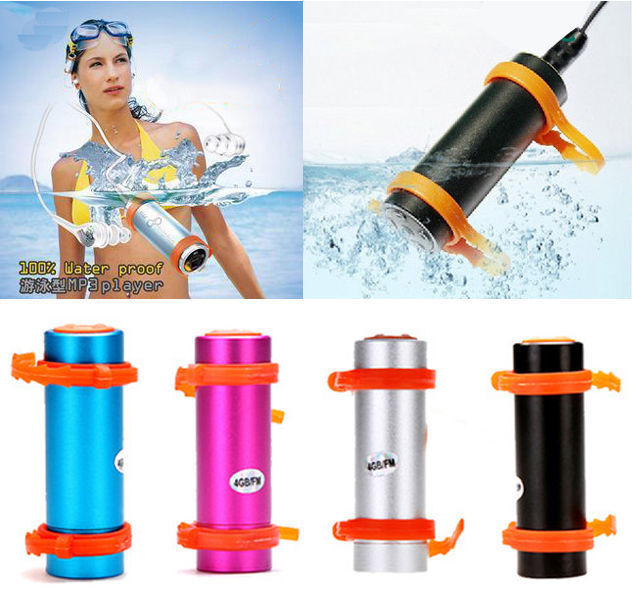 Underwater Sports Swimming Diving Sports Waterproof MP3 4G WMA FM Radio Player + Earphones