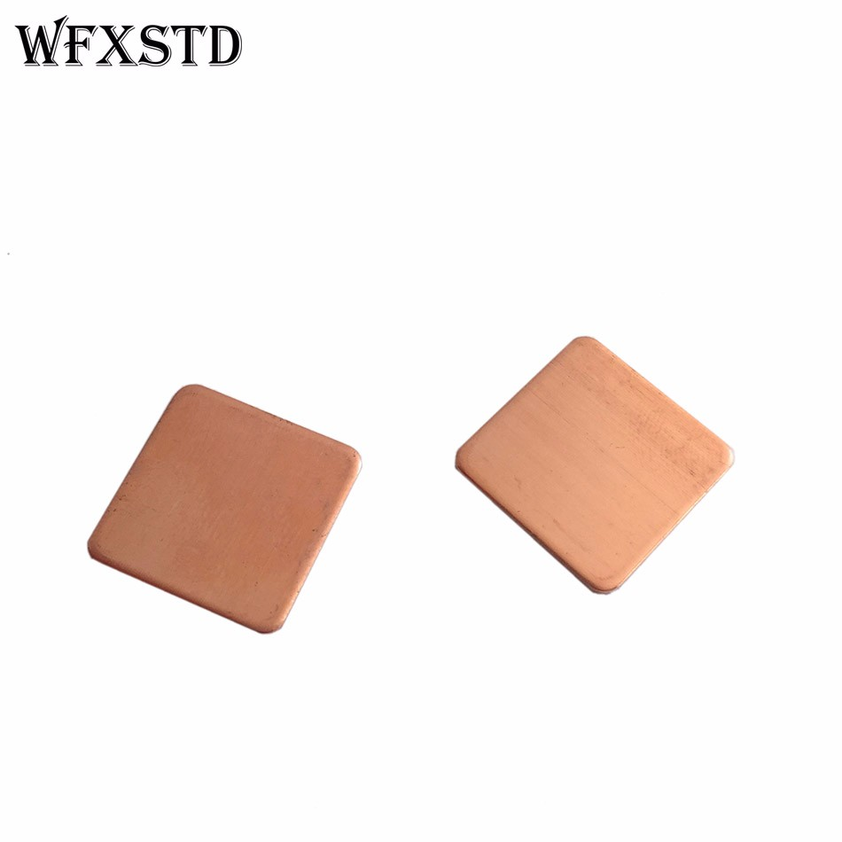 100pcs 1mm New 15*15*1mm Rounded Notebook Graphics Copper CPU Thermal Pad Cooling Red Copper synthetic graphite cooling film paste 300mm 300mm 0 025mm high thermal conductivity heat sink flat cpu phone led memory router