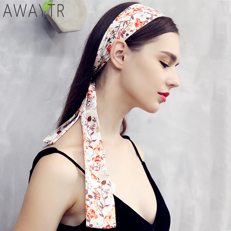 145cm Silk Satin   Headwear   Hair Scarf Women Small Scarves Hendband Neck Ladies Bag Rinnons Scrunchie Hair Accessories Hair Bands