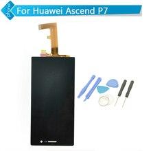 Blanco negro para huawei ascend p7 lcd exhibición de la pantalla táctil del digitizador assembly + herramientas