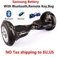 10 inç 2 tekerlek Kendinden denge Elektrikli scooter Bluetooth uzaktan Çantası emniyet pil unicycle Kaykay Sürüklenme hoverBoard Ayakta