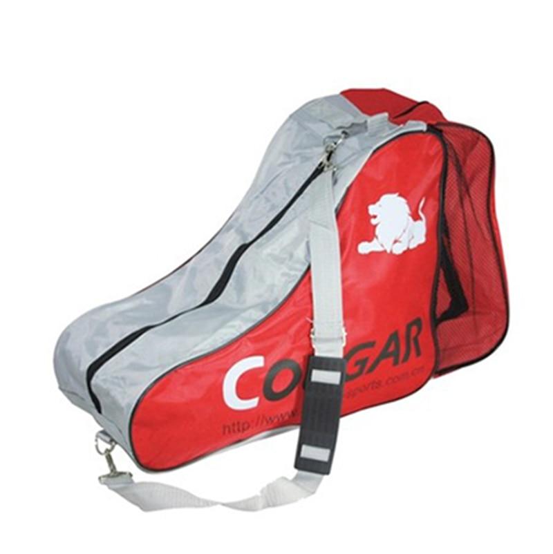 Free Shipping Skating Bag Shoulder Bag Red Color L 41+10cm H: 33cm