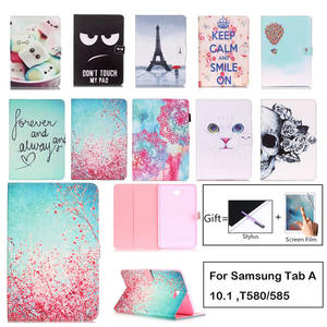 Cartoon-Case Cover Tablet T580 Galaxy Tab Samsung Shell Smart-Stand Fashion PU for A6