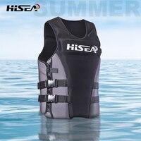 HISEA 45KG 85KG Adult Buoyancy Life Jacket Profession Adjustable Life Vest for Swimming Fishing Surfing Kayak Life Jackets Q