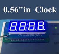 """最高の価格0.56インチ7セグメント4桁スーパーブルー0.56 """"0.56in時計ledディスプレイ共通カソード時間14ピン用diy"""